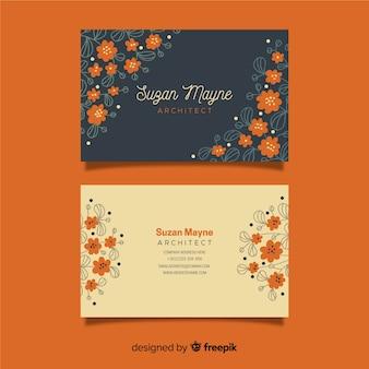 Floral elegante visitenkarte vorlage