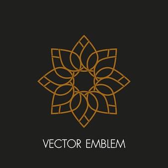 Floral emblem
