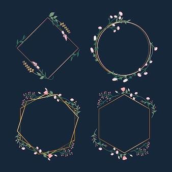 Floral frame abzeichen