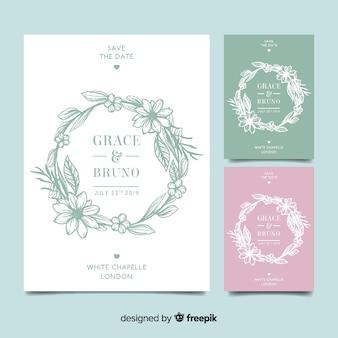 Floral frame einladungskarte vorlage