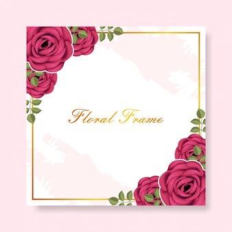 Floral frame hintergrundvorlage