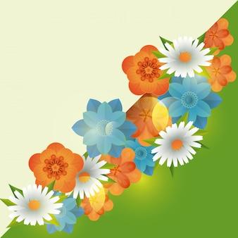 Floral frame leere karte