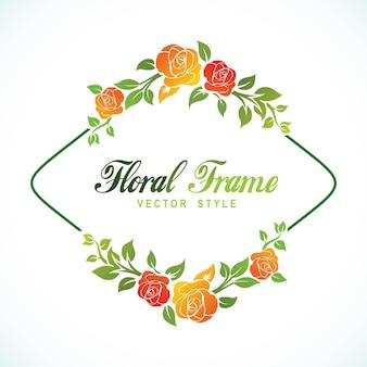 Floral frame logo vektor