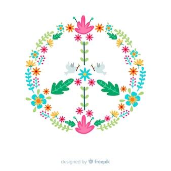 Floral friedenszeichen