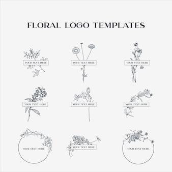 Floral logo-vorlagen