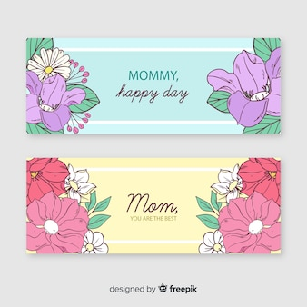 Floral muttertag banner