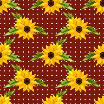 Floral nahtlose muster von sonnenblumen.