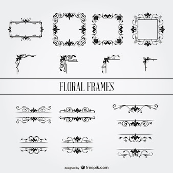 Floral ornament-frames gesetzt
