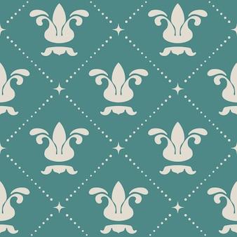 Floral royal vintage hintergrundmuster. design königliche kunst,