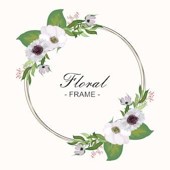 Floral runder rahmen
