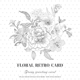 Floral shabby chic karte