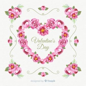 Floral valentinstag verkauf hintergrund