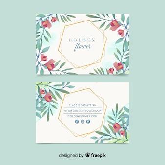 Floral visitenkarte vorlage