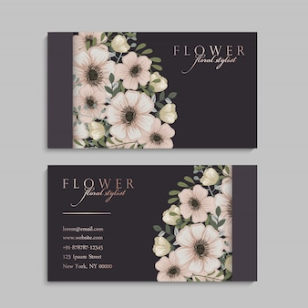 Floral visitenkarte