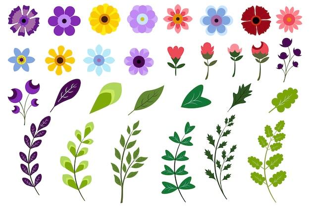 Florale elemente sammlung
