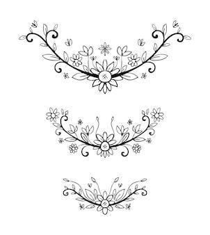 Florale hand gezeichnet