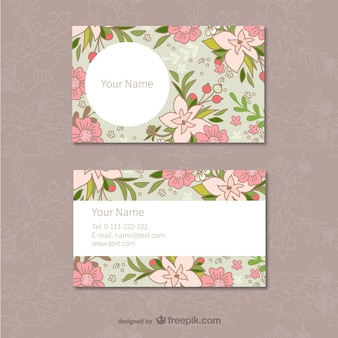Floralen visitenkarten vorlage