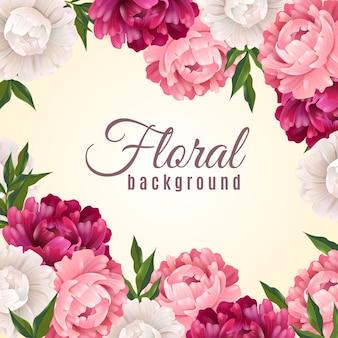 Floraler realistischer hintergrund
