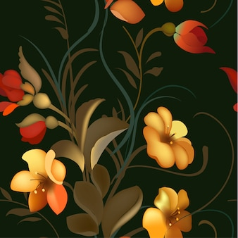 Floraler zierrahmen im russischen schostowo-stil.