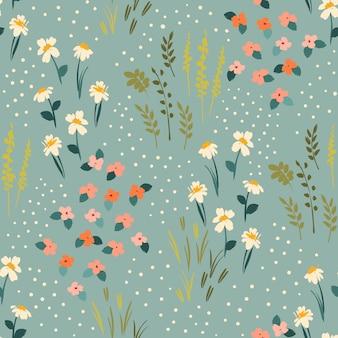 Florales abstraktes nahtloses muster. design für verschiedene surfasen.