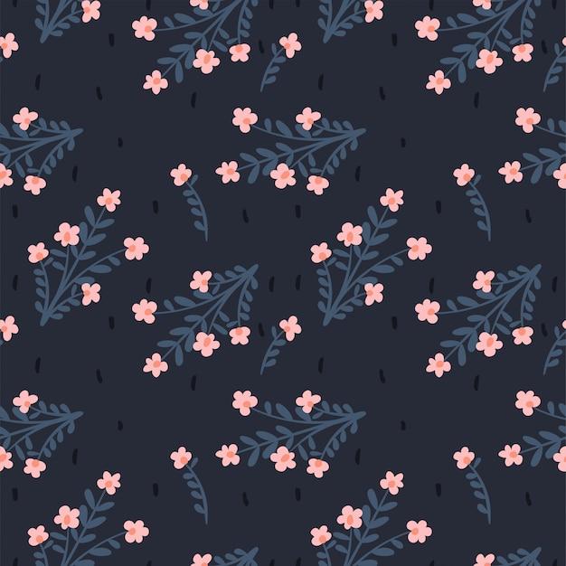 Florales abstraktes nahtloses muster. hintergrund für papier, umschlag, stoff, textil. pinke blumen.