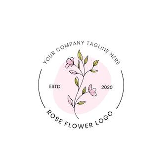 Florales schönes logo für boutique-spa-geschäft