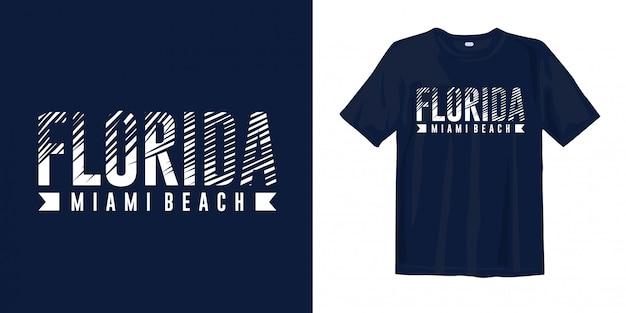 Florida miami beach. stylisch für den druck