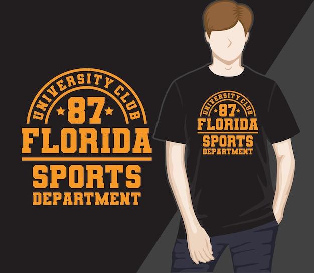 Florida sport-typografie-t-shirt-design