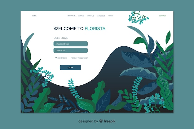 Florista login-landingpage