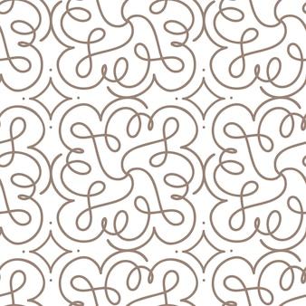 Flourish nahtloses muster mit grauem wirbelornament auf weißem art-deco-stil. hintergrund für die einladung