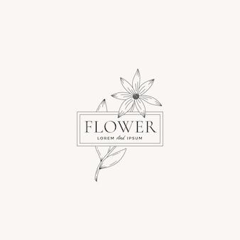 Flower abstract vector zeichen, symbol oder logo-vorlage.
