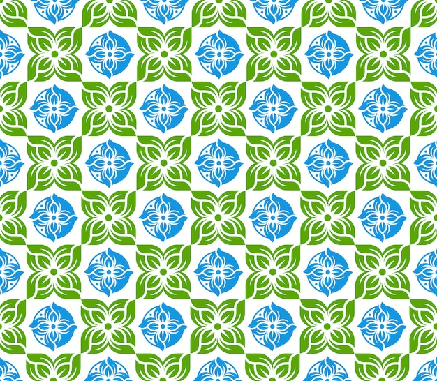 Flower seamless pattern design illustration