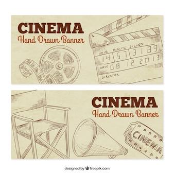 Flüchtiger kino elemente banner