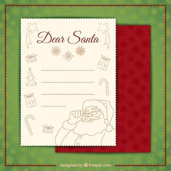 Flüchtiger weihnachtsmann brief
