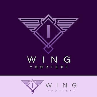 Flügel anfangsbuchstaben i logo design