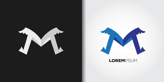 Flügel buchstabe m logo