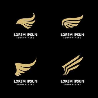 Flügel logo vorlage vektor icon design