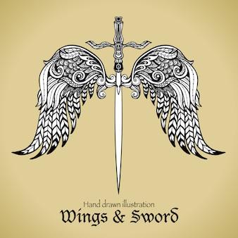 Flügel und schwert