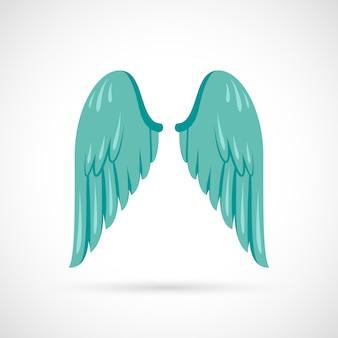 Flügelillustration flach