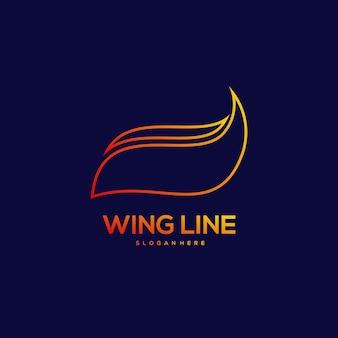 Flügellinie design vintage illustration