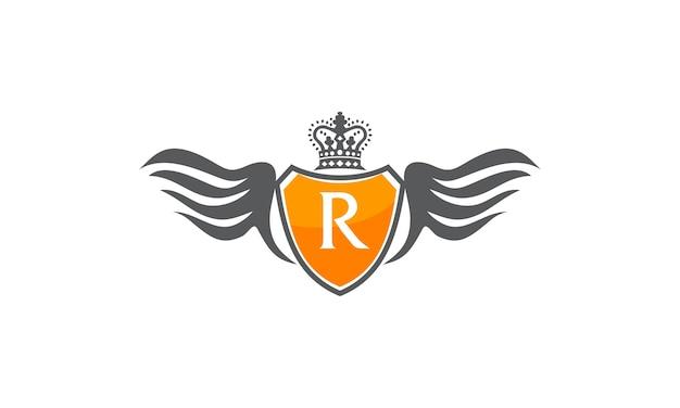 Flügelschildkrone initial r