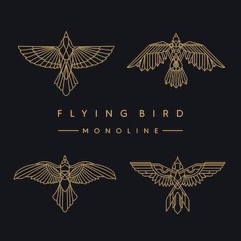 Flügelvögel packen