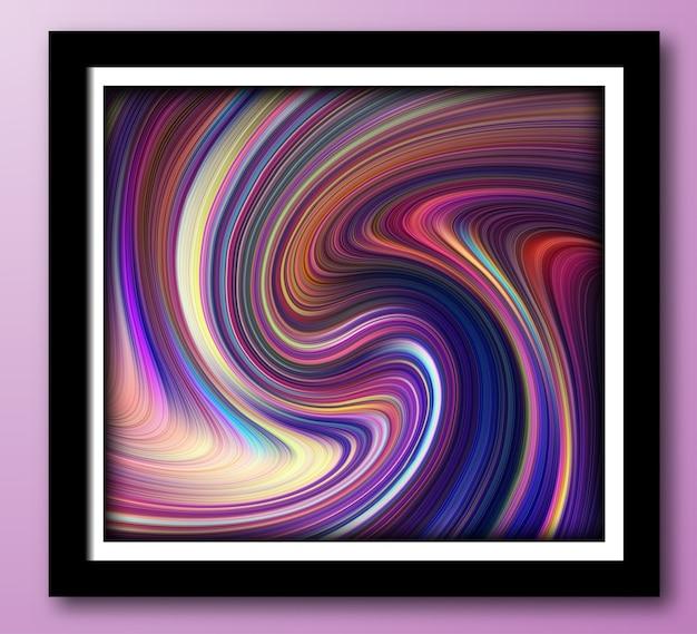 Flüssige dynamische gradientenwellen mit flüssiger marmorstruktur