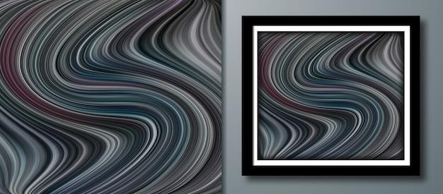 Flüssige farbe abstrakte und marmorierte textur stein design vektor-illustration
