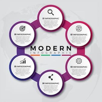 Flüssige farbe moderne infografik
