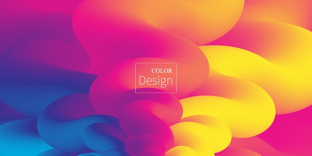 Flüssige farben. flüssige form. tintenspritzer. vektor.