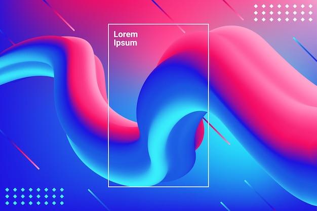Flüssige farbformen für kompositionshintergründe