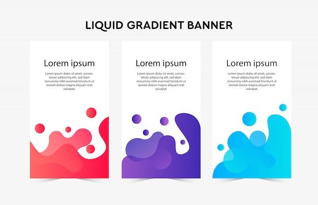 Flüssige farbverlauf banner