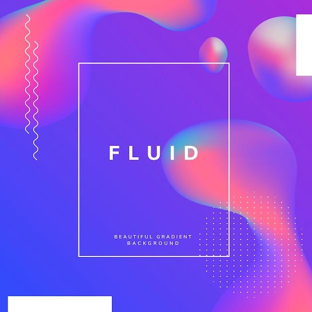 Flüssige farbverlauf tapetendesign