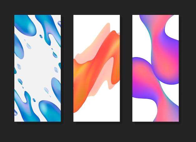 Flüssige farbverlaufshintergrundvorlagen